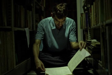 Sidney fazendo pesquisa na Biblioteca Nacional do RJ
